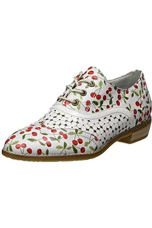 LAURA VITA Damen Claudie 10 Oxfords, (Blanc)