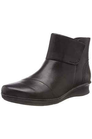 Clarks Damen Hope Track Stiefeletten, (Black Leather)