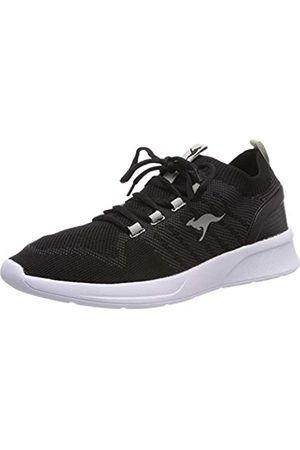 KangaROOS Unisex-Erwachsene KangaFOAM Adult Sock Sneaker, (Jet Black/Vapor Grey 5007)