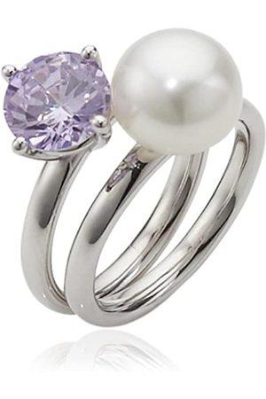 ADRIANA Damen-Ring Süßwasser Zuchtperlen purple rain 925 Silber Rainbow RAR-V-Gr.54