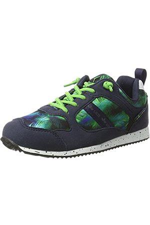 LICO Mädchen LEEDS Sneaker, (Marine/Gruen)