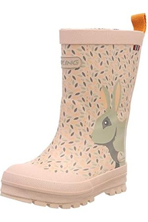 Viking Unisex-Kinder Big Rabbit Gummistiefel, Pink (Pink/multi 950))