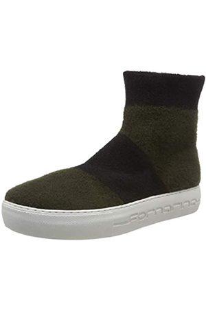 Fornarina Damen Hohe Sneaker, Mehrfarbig (Yuma4 Kaki/Black)