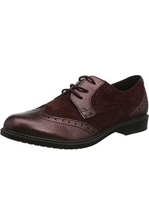 Hotter Damen Norfolk Brogues, (Maroon 136)