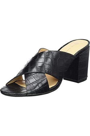 The Divine Factory Damen Lucie Pantoletten, (Black Croco 010)