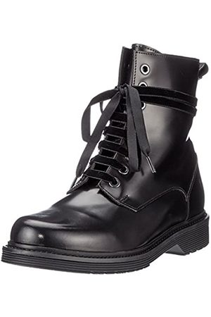 liebeskind Damen LW175260 Nappa Combat Boots, (Oil Black with Red Brush)