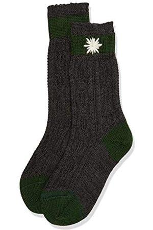 LUSANA Jungen Kinder-Socke zweifarbig, Bestickt Kniestrümpfe