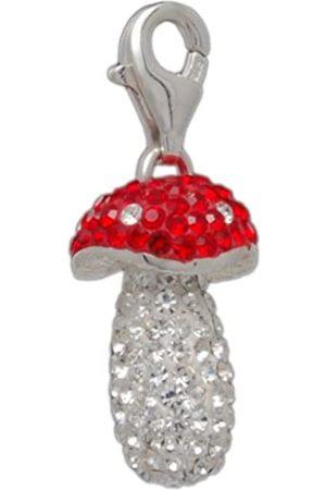 Melina Damen-Charm Anhänger Pilz Kristall 925 Sterling Silber 1801360