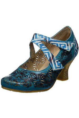 LAURA VITA Damen Candice 019 Mary Jane Halbschuhe, Türkis (Turquoise)