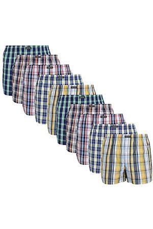 Lower East American Style Boxershorts, Mehrfarbig Große Karos), Medium (Herstellergröße: M)