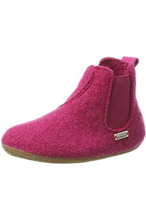 Living Kitzbühel Unisex-Kinder Chelsea Boots unifarben Hohe Hausschuhe, Pink (Magenta 362)