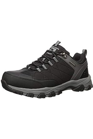 Skechers Men's SELMEN-HELSON Trainers, Black (Black Leather W/Nylon Blk)