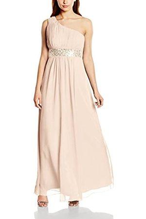 Astrapahl Damen Kleid One Shoulder mit Pailletten, Maxi, Einfarbig
