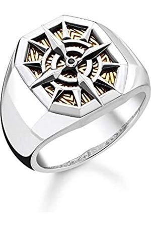 Thomas Sabo Unisex-Ring Kompass 925 Sterlingsilber gelbgold vergoldet TR2278-849-7-60