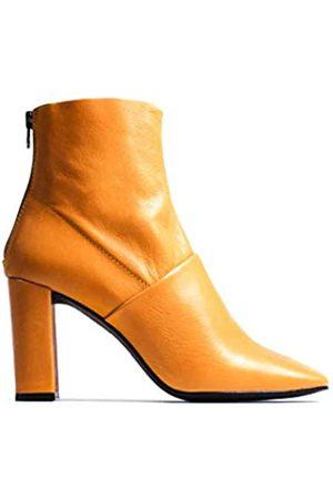 L'INTERVALLE Damen DEVIKA Mustard Leather Halblange Stiefel