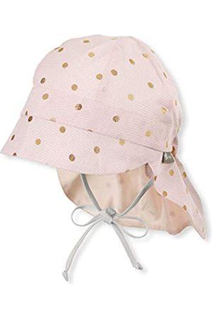 Sterntaler Mädchen Schirmmütze Bindebändern, Nackenschutz und Pünktchenmuster Mütze