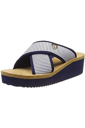 flip*flop Damen plateaucross Stripes Plateausandalen, (Deep Night 0320)