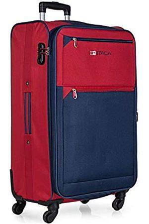 ITACA Großer XL Reisekoffer 78cm Eva-Polyester. Erweiterungsfähig. 4 Rollen. Extrem geräumig. Weich, robust und leicht. Hängeschloss. Studenten und Fachleute. 701070