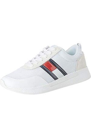 Tommy Hilfiger Damen Technical Flexi Runner Sneaker, (White Ybs)