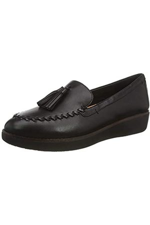 FitFlop Damen Petrina Loafer - Plain Leather Slipper, (Black 001)