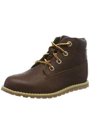 Timberland Unisex-Kinder Pokey Pine 6In Boot with Side Zip Klassische Stiefel, (Dark Brown Full Grain)
