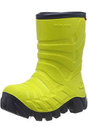 Viking Ultra 2.0, Unisex-Kinder Schneestiefel, Gelb (Lime/Navy 8805)