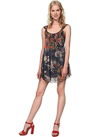 Desigual Damen Dress Straps Niels Woman Blue Kleid