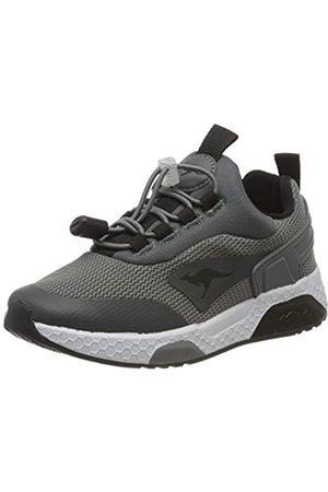 KangaROOS Unisex-Kinder Kadee Bop Sneaker, (Steel Grey/Jet Black 2019)