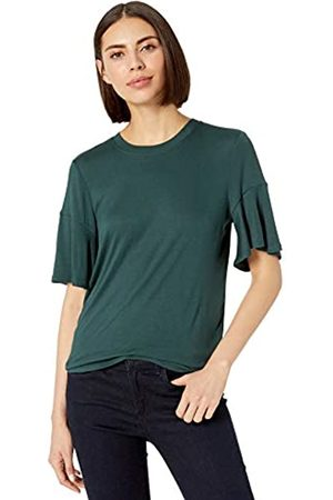 Lark & Ro 1-by1 Rayon Span Flutter Sleeve Top dress-shirts