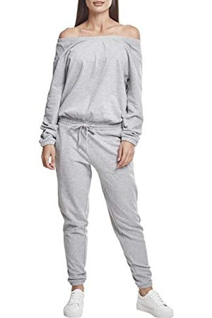 Urban classics Damen Ladies Cold Shoulder Terry Jumpsuit