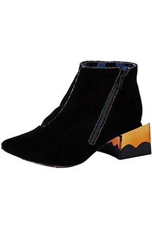 IRRA4 #Irregular Choice Damen Soapbox Kurzschaft Stiefel, (Black Grey)