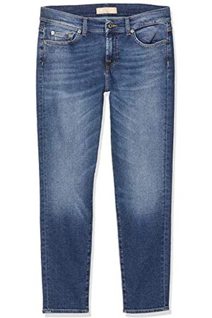 7 for all Mankind Damen Rise Roxanne Crop Slim Jeans
