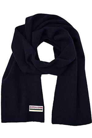 Scotch&Soda Herren Classic rib knit scarf in soft wool-blend quality Schal