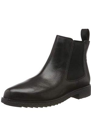 Clarks Damen Griffin Plaza Chelsea Boots, (Black Leather)