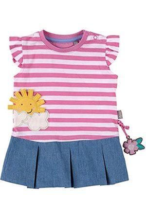 sigikid Baby - Mädchen Kleid Sommerkleid Kurzarm aus Bio-Baumwolle, abnehmbares Hangtoy