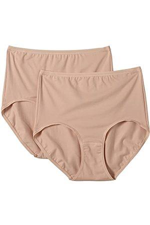 HUBER Damen Unterhose Mia Maxi Slip 2er Pack, Einfarbig