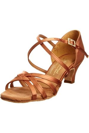 International Dance Shoes Cindy INUFT0621, Mädchen Sportschuhe - Tanz, (Tan Satin)