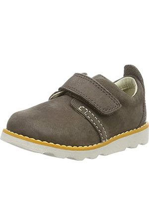 Clarks Jungen Crown Park T Sneaker, (Brown Leather Brown Leather)