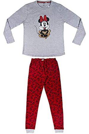 Artesanía Cerdá Damen Pijama Largo Minnie Zweiteiliger Schlafanzug