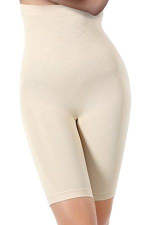 Miorre Figurformende Nahtlose Miederpants Atmungsaktive Shapewear mit Bein Hohe Taille Perfekt als Unterwäsche (L/XL)