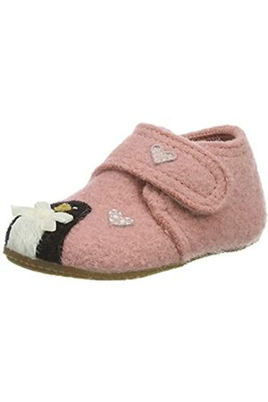 Living Kitzbühel Baby Mädchen Babyklettschuh Eisbär & Pinguin in Love Hausschuhe, Pink (ash Rose 0336)