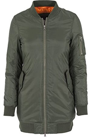 Urban classics Damen Jacke Jacke Long Bomber Jacket (Olive) Small