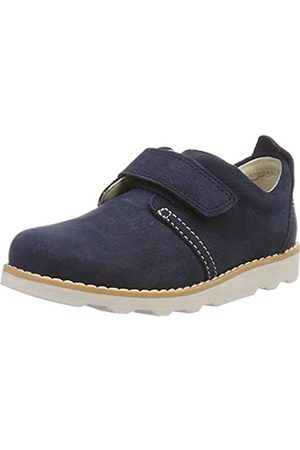 Clarks Jungen Crown Park T Sneaker, (Navy Leather)