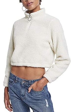 Urban classics Damen Ladies Short Sherpa Troyer Pullover