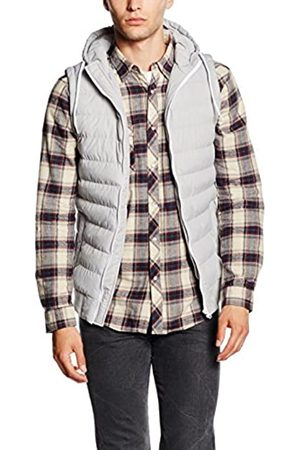 Urban classics Small Bubble Hooded Vest Weste, greywhite