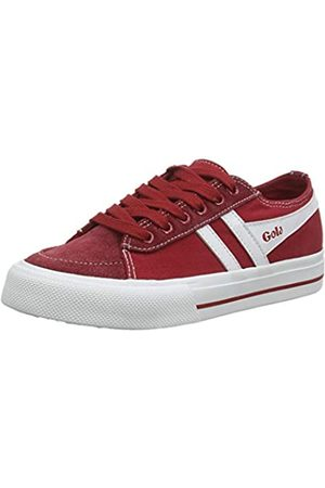 Gola Unisex-Kinder Quota Ii Sneaker, (Deep Red/White Rw)
