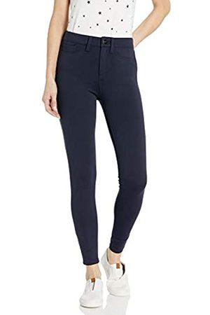 Daily Ritual Ponte Faux-5 Pocket Flat-Front leggings-pants
