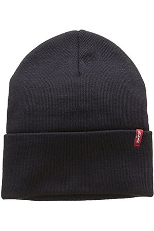 Levi's Unisex New Slouchy Beanie W Red Tab Detail Strickmütze, (Blue)