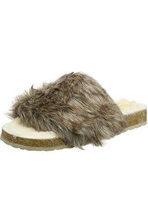 Dunlop Damen Ambre Flache Hausschuhe, Mehrfarbig (Caribou)