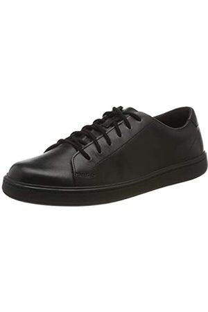Clarks Jungen Street Skye Y Sneaker, (Black Leather Black Leather)